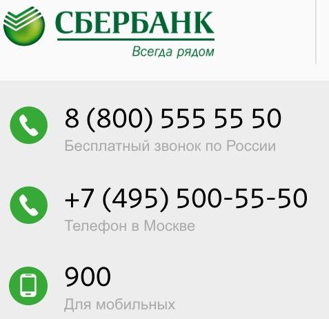 телефон единой горячей справочной службы сбербанка
