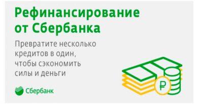 Сбербанк рефинансирование кредитов других банков